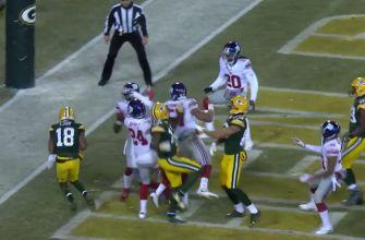 Mr. Hail Mary! Aaron Rodgers throws another shock TD to stun Giants at end of half