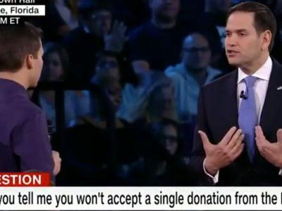 Student who survived the Parkland mass shooting challenges Marco Rubio not to accept contributions from the NRA
