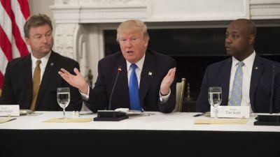 Fact Check: Trump's Confusing Remarks To Senate Republicans On Health Care