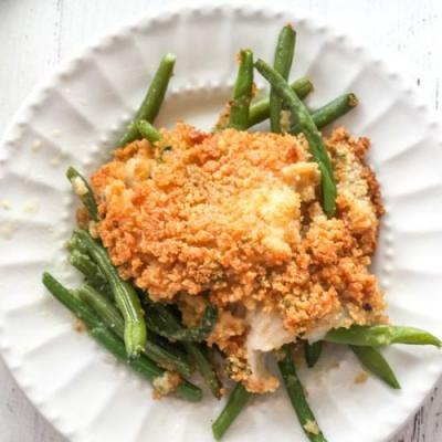 Low Carb Baked Fish w Green Beans
