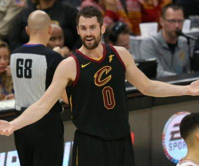 Cavs play Hawks in first home game of post-James era