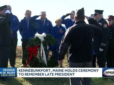 Kennebunkport holds ceremony to remember late president
