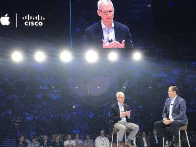 Tim Cook Appears Onstage at Cisco Live to Debut New Enterprise Security Partnership