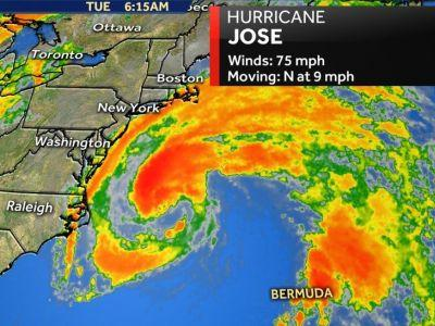 Tropical storm warnings in effect for New England coast as Jose moves north