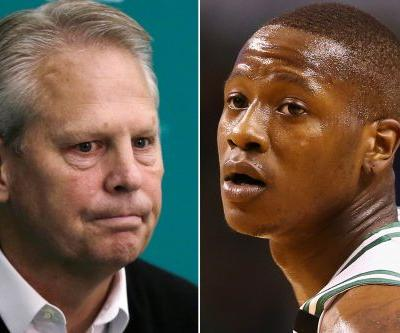 Danny Ainge didn't know he was on air as he tipped Celtics pick