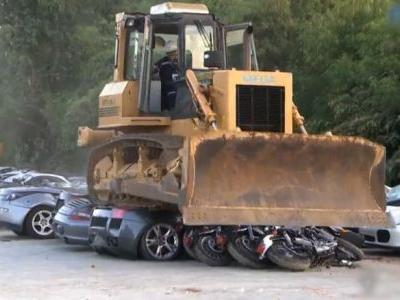 See $5.5M worth of luxury vehicles get crushed