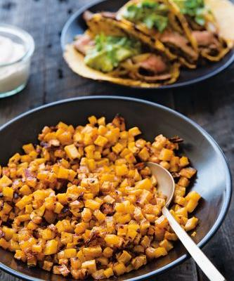 Chipotle- and Maple-Roasted Sweet Potatoes