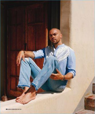 Jesse Williams Sports Summer Looks for GQ Style, Talks Activism