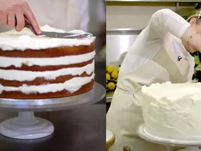 Harry and Meghan's royal wedding cake has been unveiled - and there's video showing how the lemon and elderflower creation was made