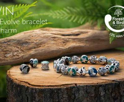 Be in to win an Evolve Koru Bracelet - and a choice of one beautiful charm from the Forest and Bird collection, valued at $188