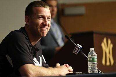 Todd Frazier's first at-bat at home as a Yankee: A triple play
