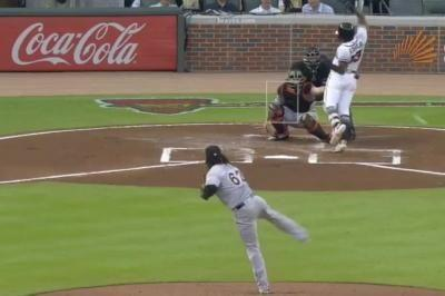 Watch: Marlins' Jose Urena drills Braves' Ronald Acuna Jr. with pitch, benches clear