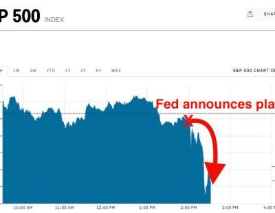 Stocks are sliding after the Fed announces its plan to begin unwinding its massive balance sheet