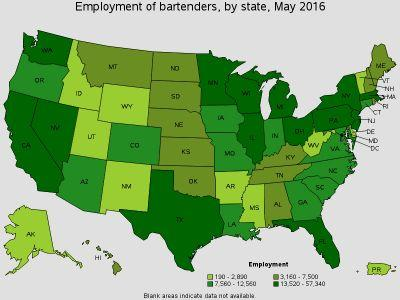 A Data Driven Look At Bartending In America
