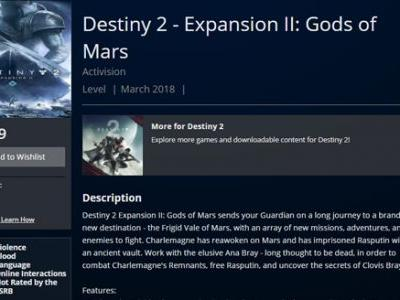 "Destiny 2 Expansion 2: Gods of Mars Release Date and Details ""Leak"", Likely a Fake"