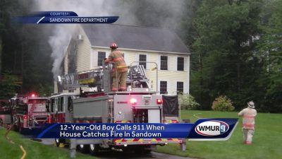 Boy calls 911 for house fire in Sandown