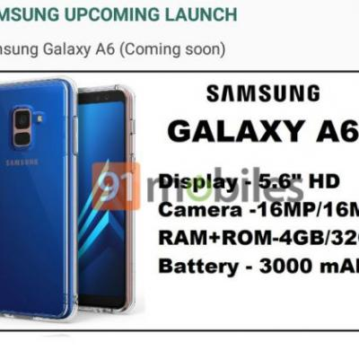 Galaxy A6 & A6 Plus To Launch In India First, Report Claims