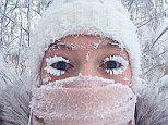 Frost breaks thermometer at -62C in Siberian village