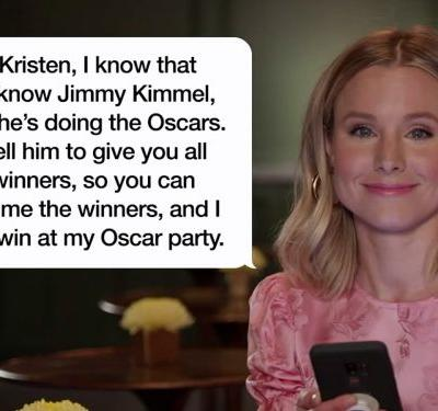 Watch Kristen Bell, Anna Faris, and more celebrities read hilarious texts from their moms on 'Jimmy Kimmel Live'