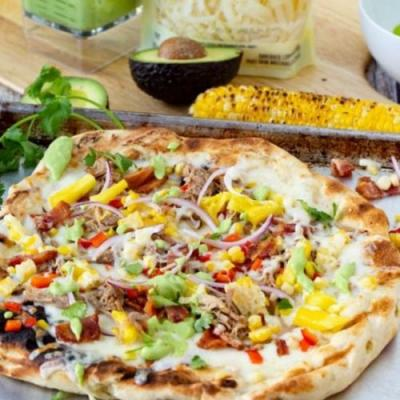 Pulled Pork and Sweet Corn Pizza