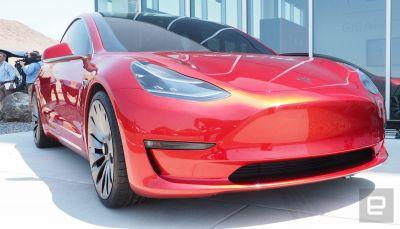 Tesla makes its first Model 3