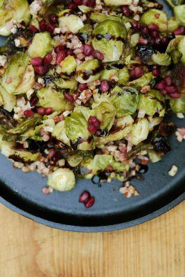 Brussels Sprouts with Pancetta and Pomegranate