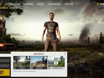 PUBG Update Will Deliver Map Selection