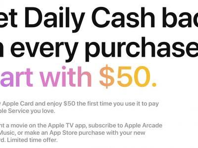 Apple Card Promo Offers New Users $50 in Daily Cash for First Apple Service Purchase