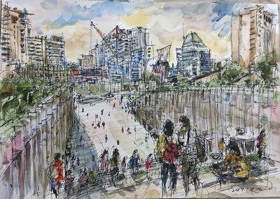 Sketches at Ewha Womans University campus