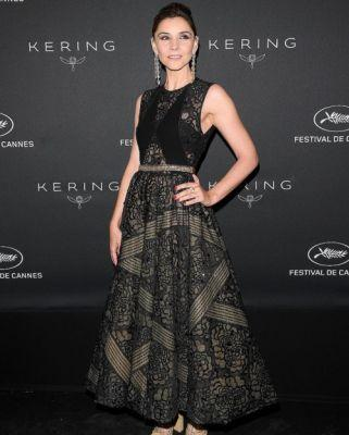 French actress Clotilde Courau wears GEORGES HOBEIKA for the