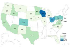 Wisconsin, Ohio, Pennsylvania, New Jersey and Colorado hardest hit in another Romaine Lettuce E. coli Outbreak