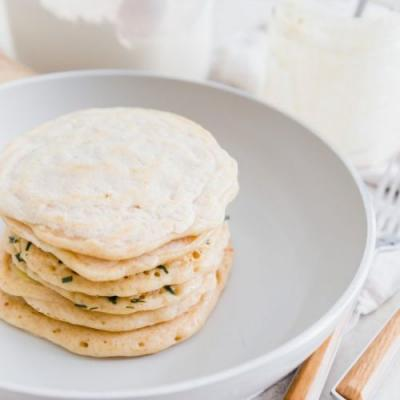 1-Ingredient Sourdough Pancakes