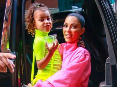 Kim Kardashian Shares Pic Of North Serving A ~Lewk~ At Reign And Saint's Birthday Bash!