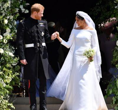 The top-secret sketches of Meghan Markle's iconic royal wedding dress have been revealed - and her gown is truly a work of art