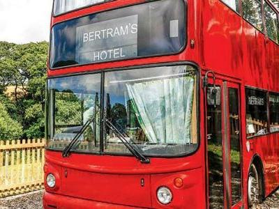 Experience the Agatha Christie magic in this double-decker hotel bus