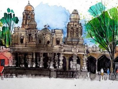 A Day 'Well' Spent - Sketching Around Satara