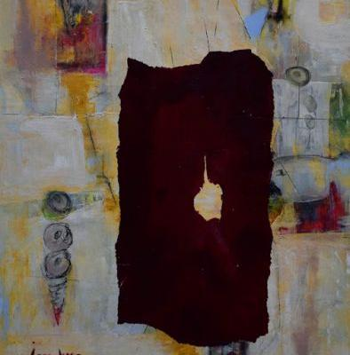 """Contemporary Painting, Abstract Art, Expressionism, Cold Wax, """"The Robe"""" by International Abstract Realism Artist Arrachme"""