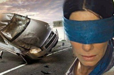 Bird Box Challenge Results in Blindfolded Car Crash, Cops Issue