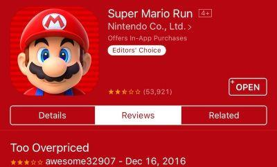 Nintendo Share Prices Decline in Reaction to 'Super Mario Run' Pricing and Internet Connection Criticisms