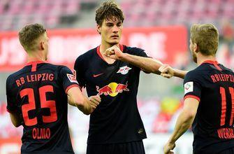 Leipzig finds first-half equalizer vs. Köln off the head of Patrik Schick