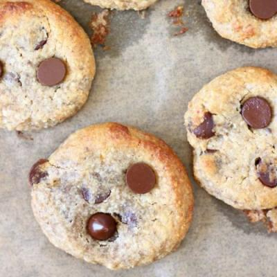 Vegan GF Chocolate Chip Cookies