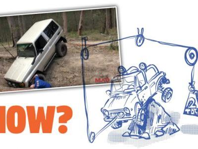 With A Few Pulleys, You Can Winch Yourself Backwards