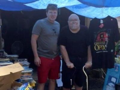 A Navy veteran with terminal cancer held a garage sale to raise money for his own funeral - then strangers jumped in to help