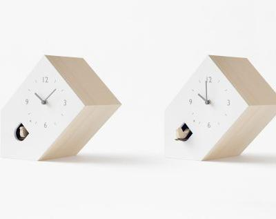 Japanese Design Studio Turns Traditional Cuckoo Clocks on Their Head With Three Minimal Designs