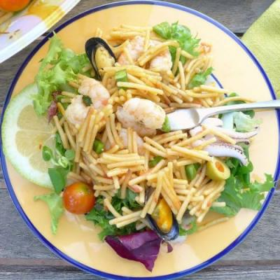 Shrimp and Fideo Noodle Salad