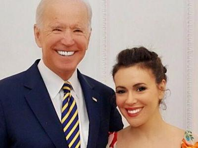 'I am proud to call Joe Biden a friend': Actress Alyssa Milano defends the former vice president amid accusations of misconduct