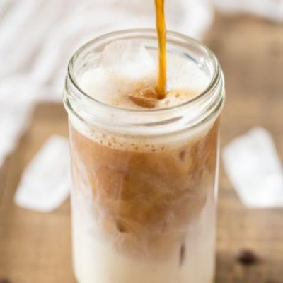 Cardamom cold brew iced latte