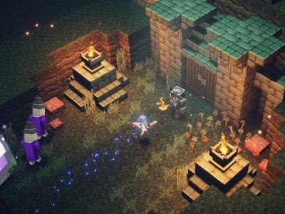 Minecraft Dungeons shows us spears, two-handers, cross-bows, and lasers