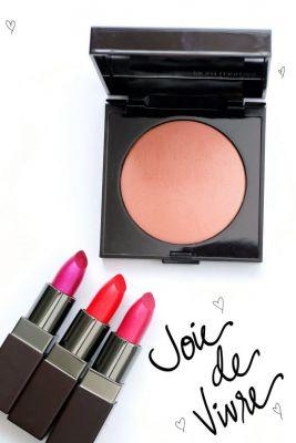 Laura Mercier Joie de Vivre Collection Spring 2017 Colour Powder in Windflush, and Lipsticks in Happy, Smile and Joy