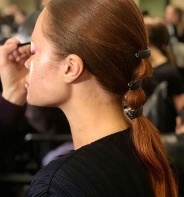 Sebastian Professional Embellishes Hair at Christian Siriano Fall Winter 2018 NYFW